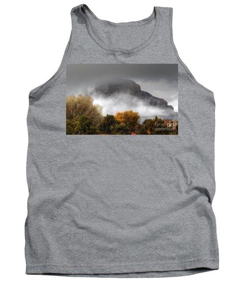 Tank Top featuring the photograph Sedona Fog by Tam Ryan