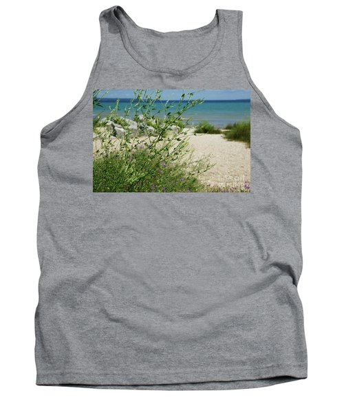 Tank Top featuring the photograph Shades Of Blue by Linda Shafer
