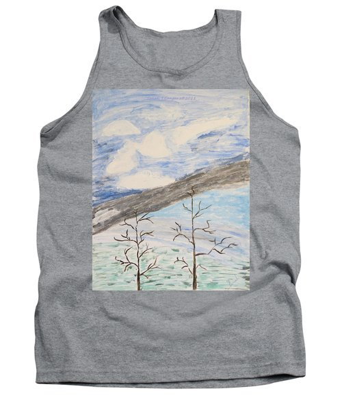Tank Top featuring the painting Shades Of Nature by Sonali Gangane