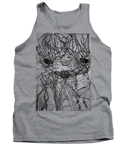 Tank Top featuring the drawing Shango by Gloria Ssali