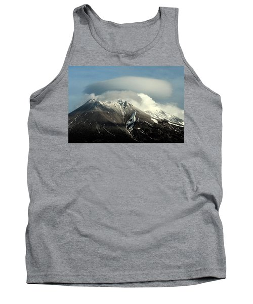 Tank Top featuring the digital art Shasta Lenticular 2 by Holly Ethan
