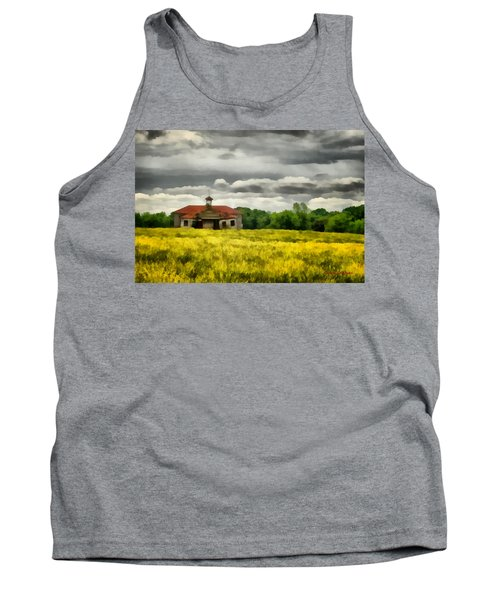 Tank Top featuring the painting Shiloh School by Lynne Jenkins