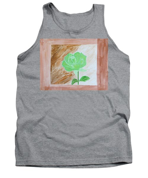 Tank Top featuring the painting Solitary Rose by Sonali Gangane