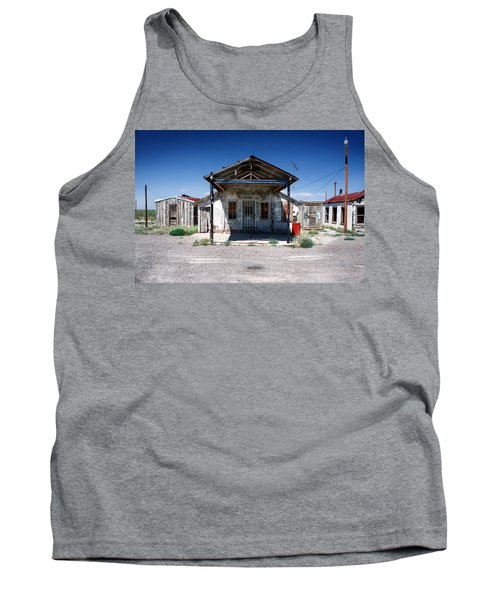 Tank Top featuring the photograph Somewhere On The Old Pecos Highway Number 4 by Lon Casler Bixby