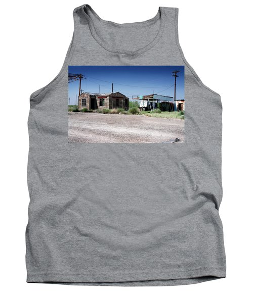 Tank Top featuring the photograph Somewhere On The Old Pecos Highway Number 8 by Lon Casler Bixby