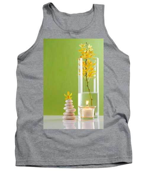 Spa Concepts With Green Background Tank Top by Atiketta Sangasaeng