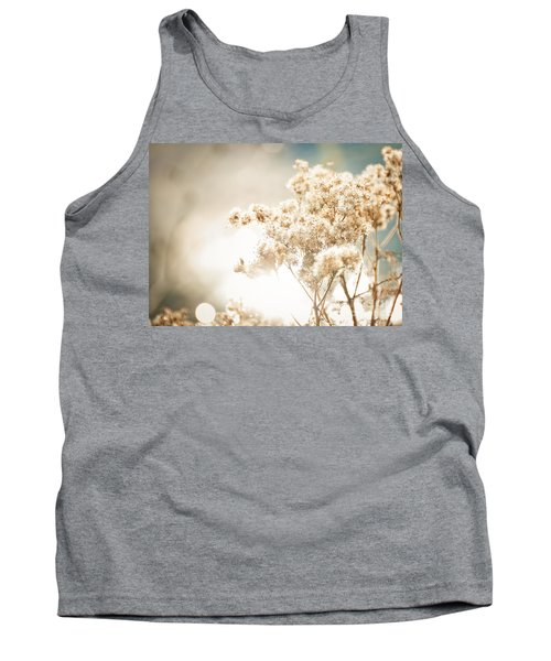 Tank Top featuring the photograph Sparkly Weeds by Cheryl Baxter