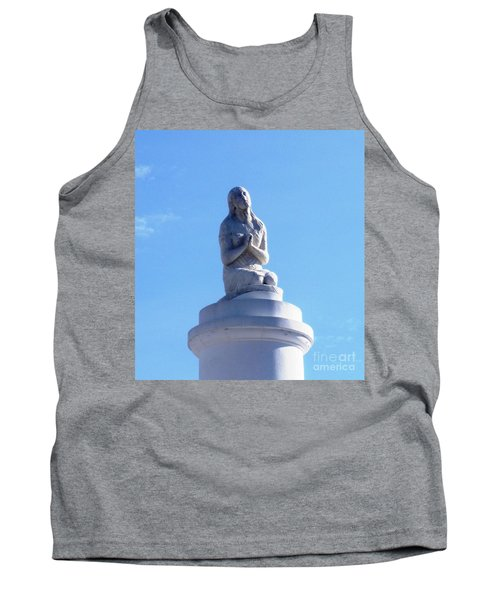 Tank Top featuring the photograph St. Louis Cemetery Statue 1 by Alys Caviness-Gober