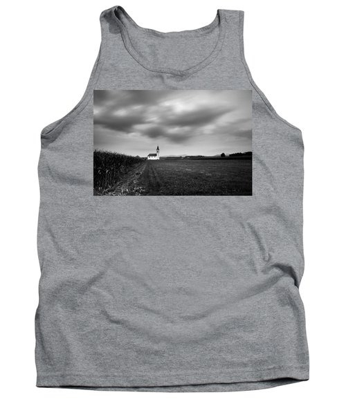 Storm Clouds Gather Over Church Tank Top