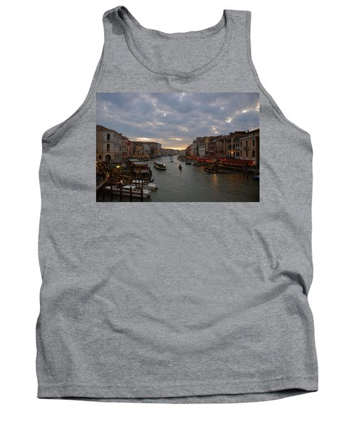 Sun Sets Over Venice Tank Top by Eric Tressler