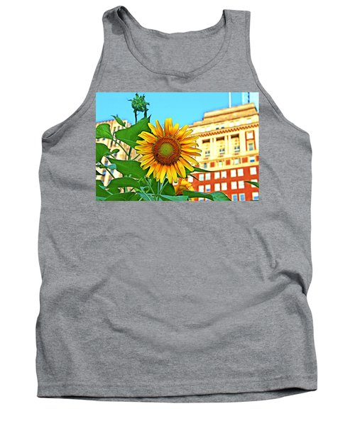 Tank Top featuring the photograph Sunflower In The City by Alice Gipson