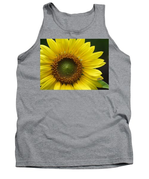 Sunflower With Insect Tank Top by Daniel Reed