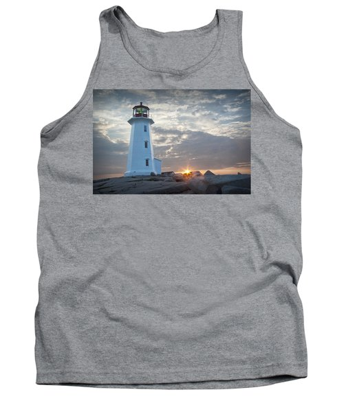 Sunrise At Peggys Cove Lighthouse In Nova Scotia Number 041 Tank Top by Randall Nyhof
