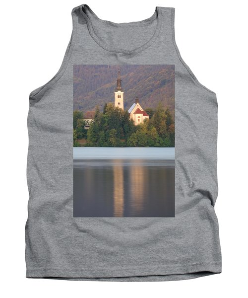 Sunrise Over Lake Bled And The Island Church Tank Top