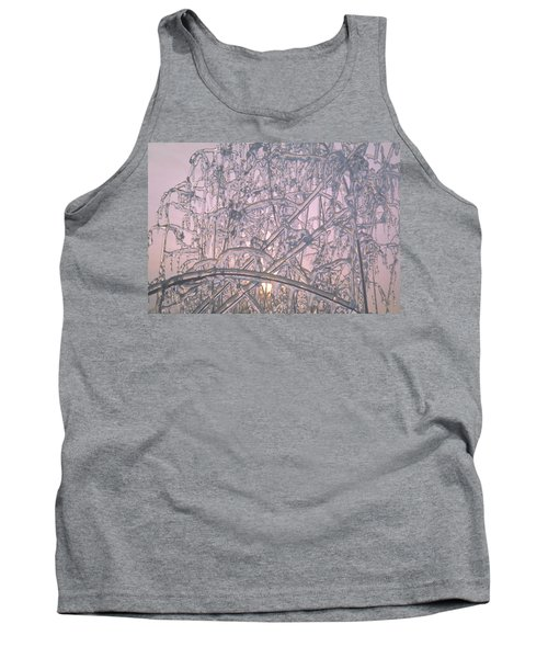 Sunrise Through Ice Covered Shrub Tank Top by Tom Wurl