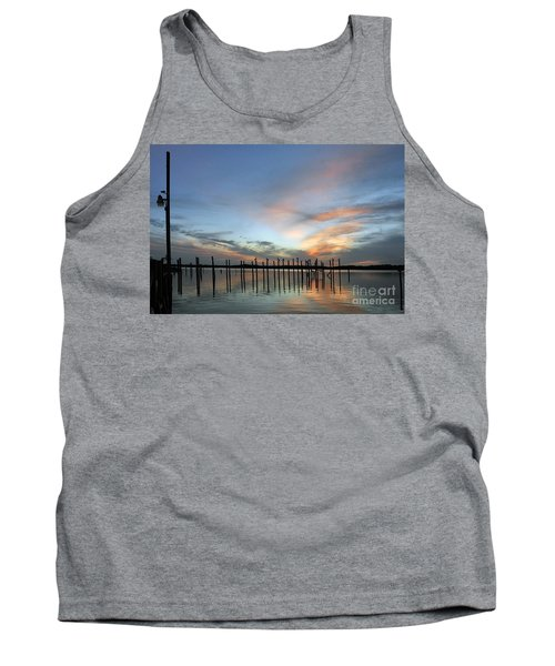 Tank Top featuring the photograph sunset marina Everglades by Dan Friend
