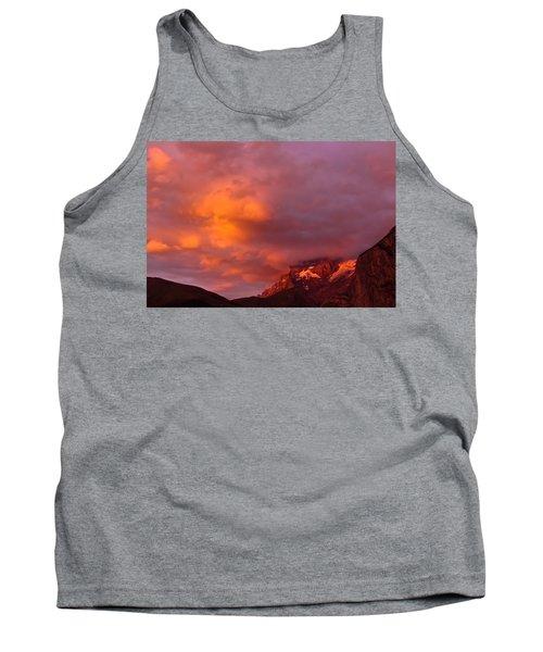 Sunset Murren Switzerland Tank Top