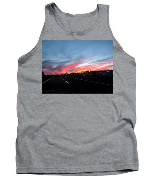 Sunset On Route 66 Tank Top