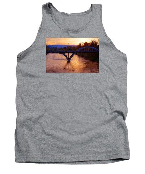 Sunset Over Caveman Bridge Tank Top by Mick Anderson