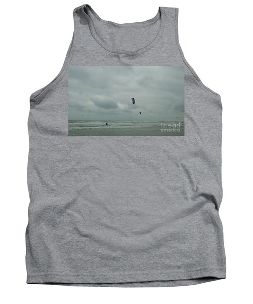 Tank Top featuring the photograph Surfing The Wind by Donna Brown