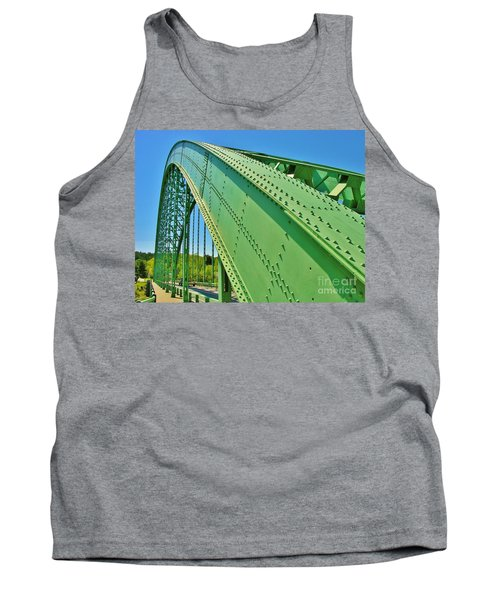 Tank Top featuring the photograph Suspension Bridge by Sherman Perry