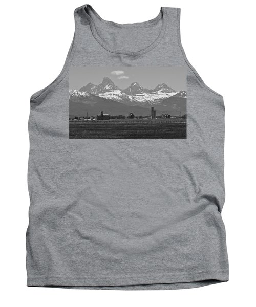 Tank Top featuring the photograph Tetonia Grain Elevators by Eric Tressler