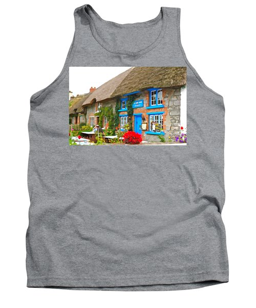 Tank Top featuring the photograph The Blue Door by Charlie and Norma Brock
