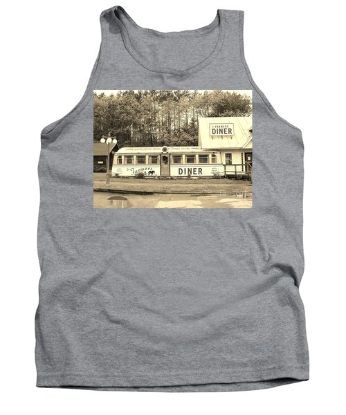Tank Top featuring the photograph The Farmers Diner In Sepia by Sherman Perry