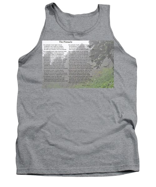 Tank Top featuring the photograph The Pinnacle by Tikvah's Hope