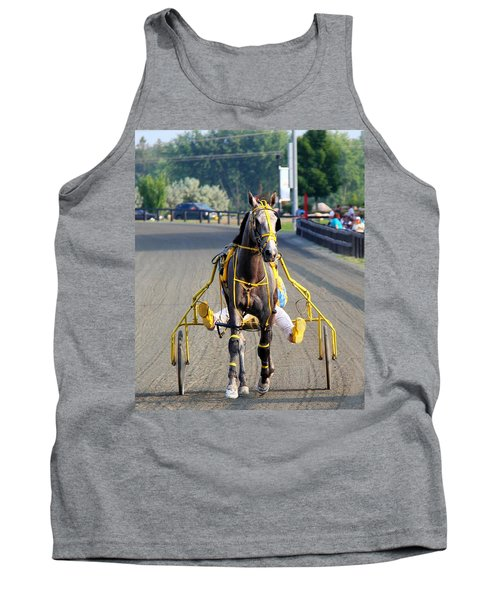 Tank Top featuring the photograph The Warm-up by Davandra Cribbie