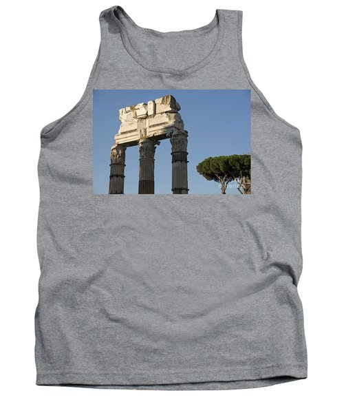 Three Columns And Architrave Temple Of Castor And Pollux Forum Romanum Rome Tank Top