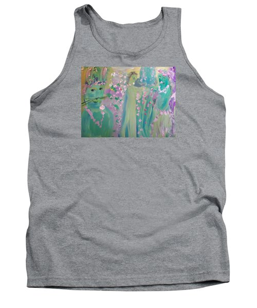 Topiary Easter Tank Top by Judith Desrosiers