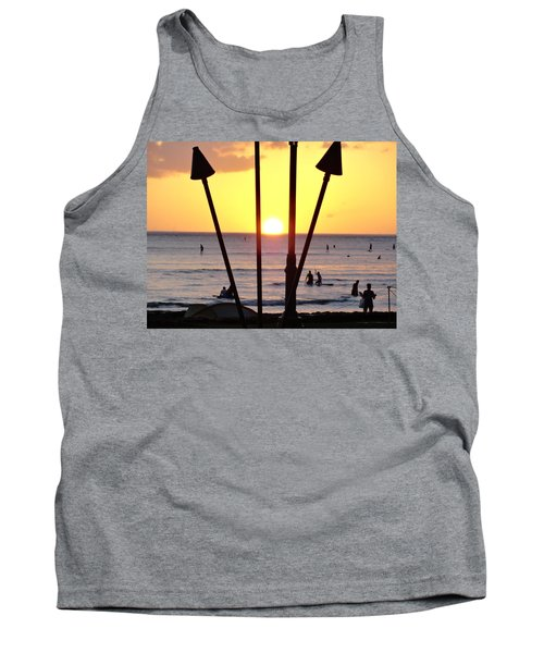 Torched Sunset Tank Top