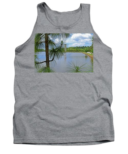 Tower Thru The Pine Tank Top by Larry Bishop