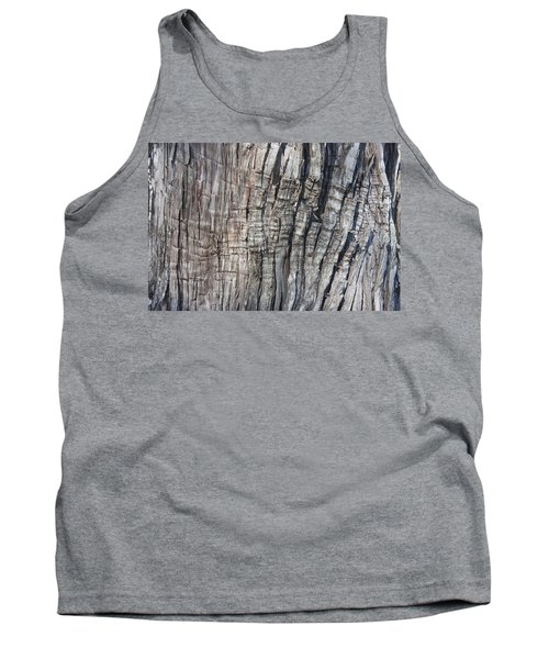 Tank Top featuring the photograph Tree Bark No. 1 Stress Lines by Lynn Palmer