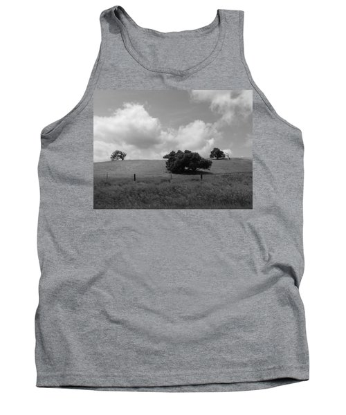 Tank Top featuring the photograph Trees On The Hillrise by Kathleen Grace