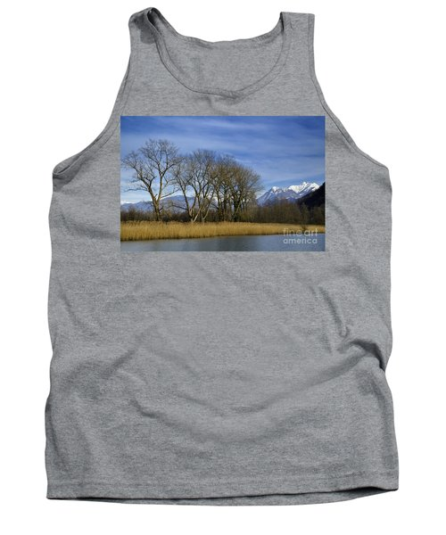 Trees On The Lakefront Tank Top