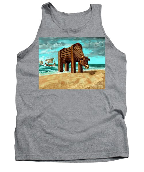 Trojan Cow Tank Top