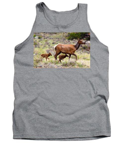 Twin Elk Calves Tank Top