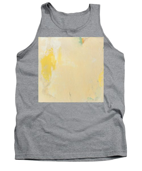 Untitled Abstract - Bisque With Yellow Tank Top