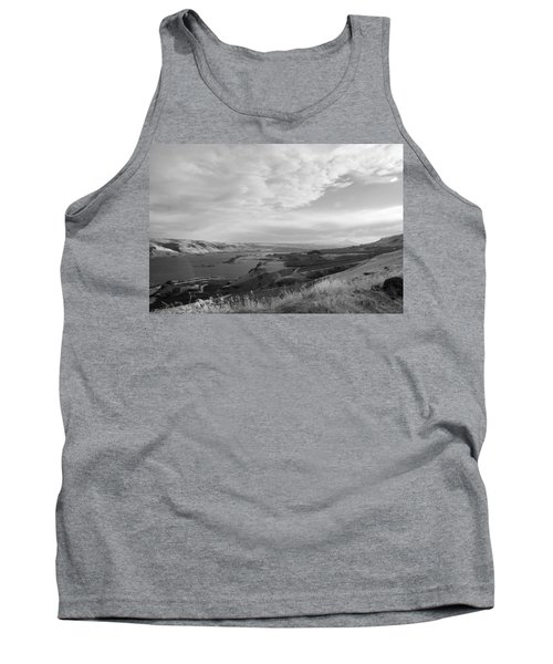 Tank Top featuring the photograph View From The Hill Columbia River by Kathleen Grace
