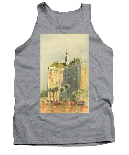 Villa Riviera Another View Tank Top by Debbie Lewis