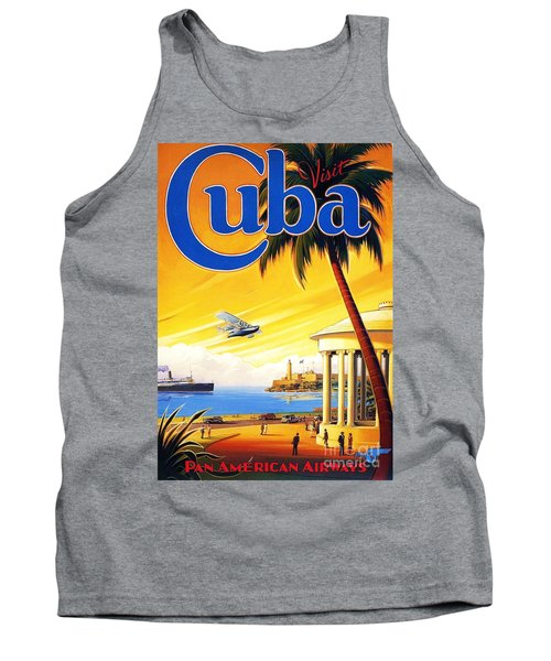 Tank Top featuring the painting Visit Cuba by Reproduction