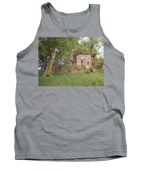 Tank Top featuring the photograph Walnut Grove School Ruins by Bonfire Photography