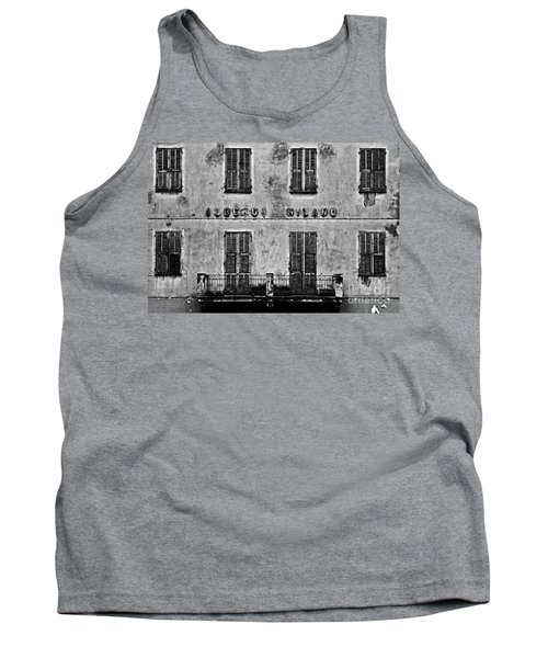 Tank Top featuring the photograph Welcome To The Hotel Milano by Andy Prendy