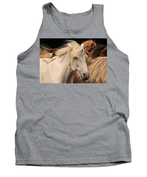 White Icelandic Horse Tank Top