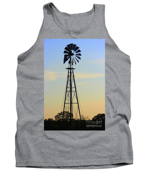 Tank Top featuring the photograph Windmill At Dusk by Kathy  White