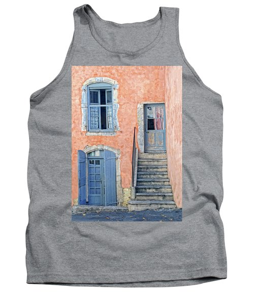 Tank Top featuring the photograph Window And Doors Provence France by Dave Mills