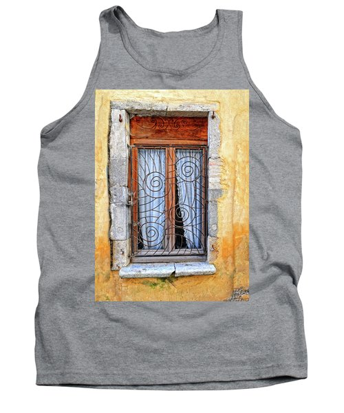 Tank Top featuring the photograph Window Provence France by Dave Mills