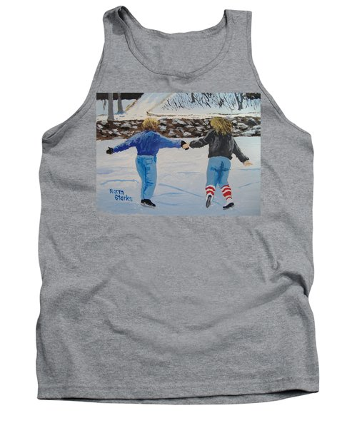 Tank Top featuring the painting Winter Fun by Norm Starks